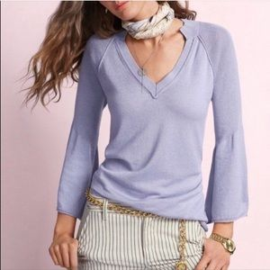 CAbi Cassidy Lilac Sweater vneck pullover Medium